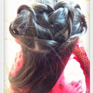 女宝编辫子发型扎法图解分享展示图片
