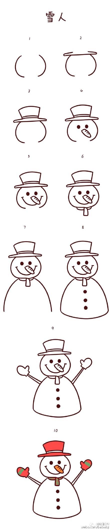 【早教】圣诞来啦,教大家画几个圣诞简笔画|感统